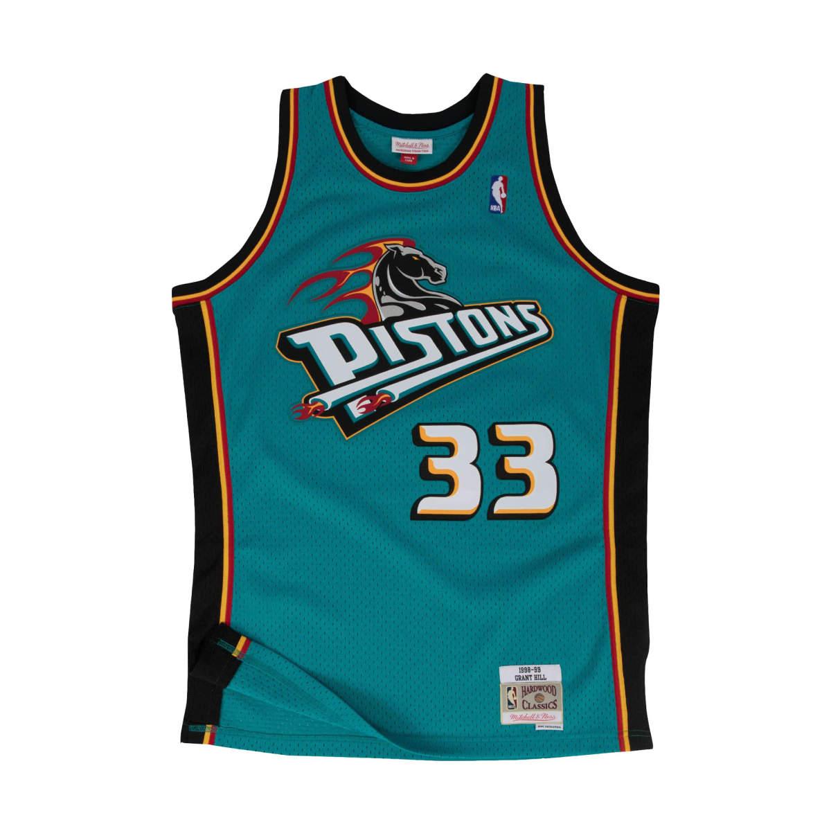 Detroit pistons away swingman jersey 1998-99 hill