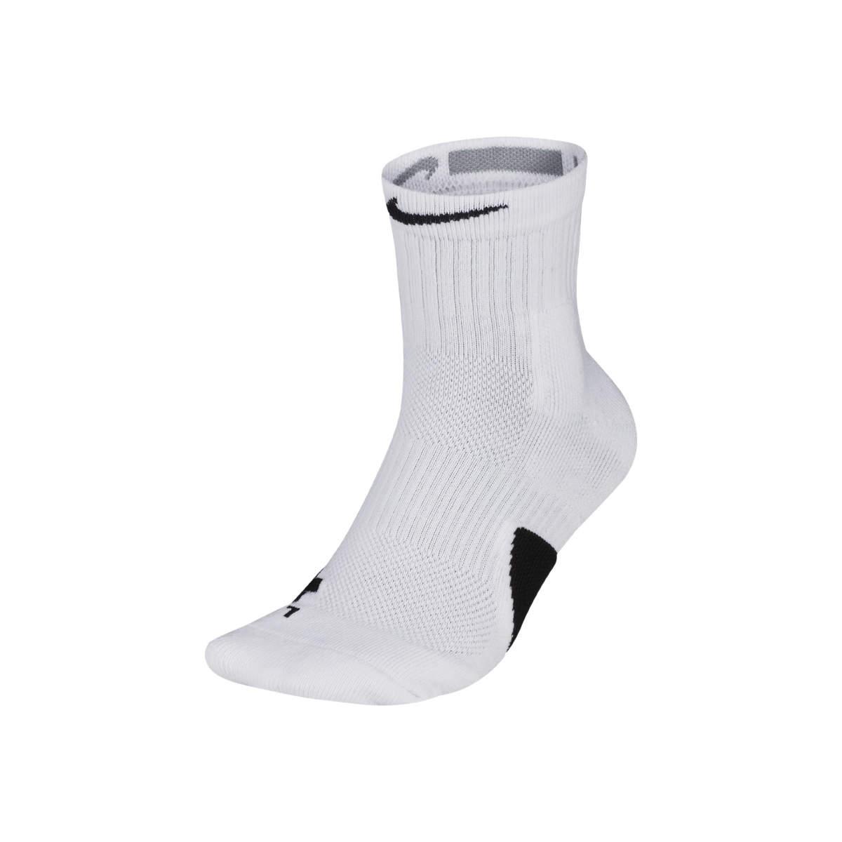 Elite mid socks white