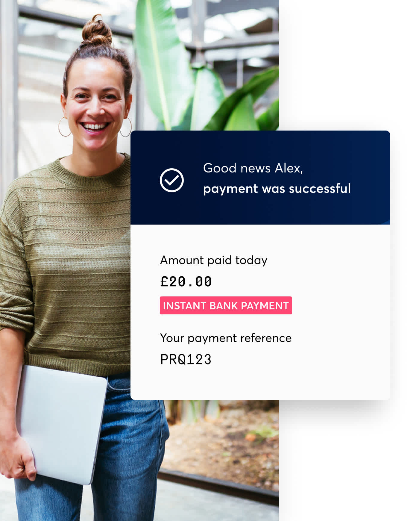 Seamless one-off bank payments. A perfect partner for Direct Debit.