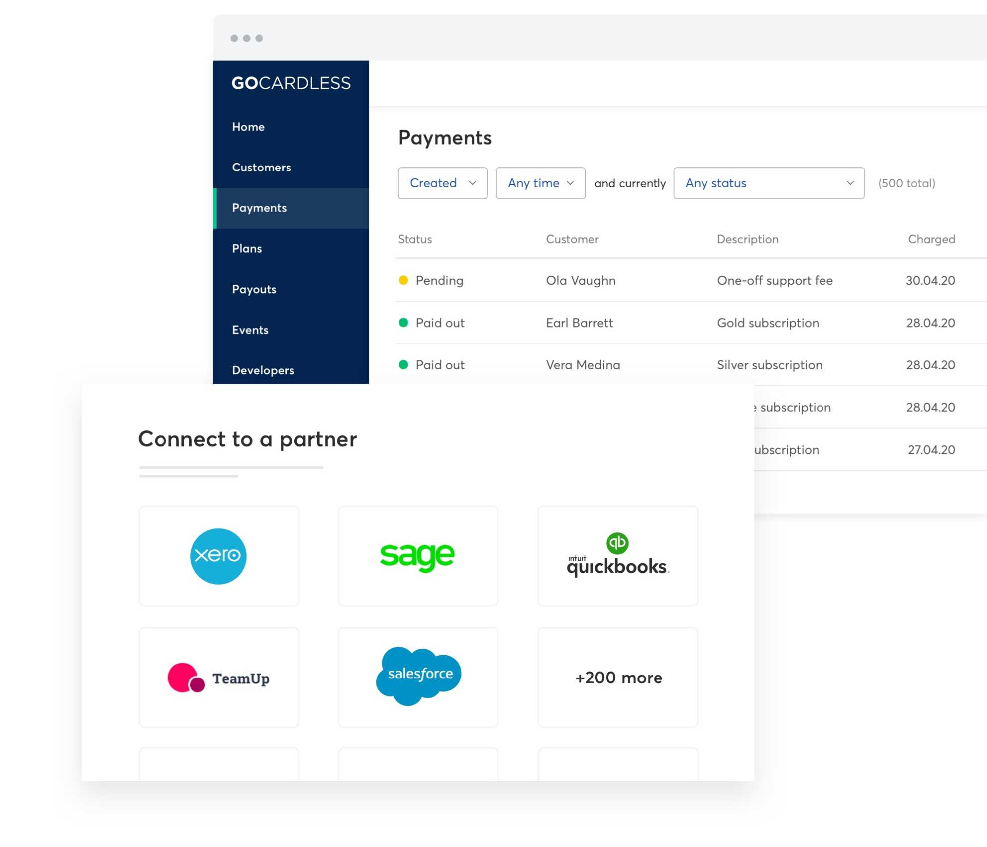 Manage all of your payments in one place