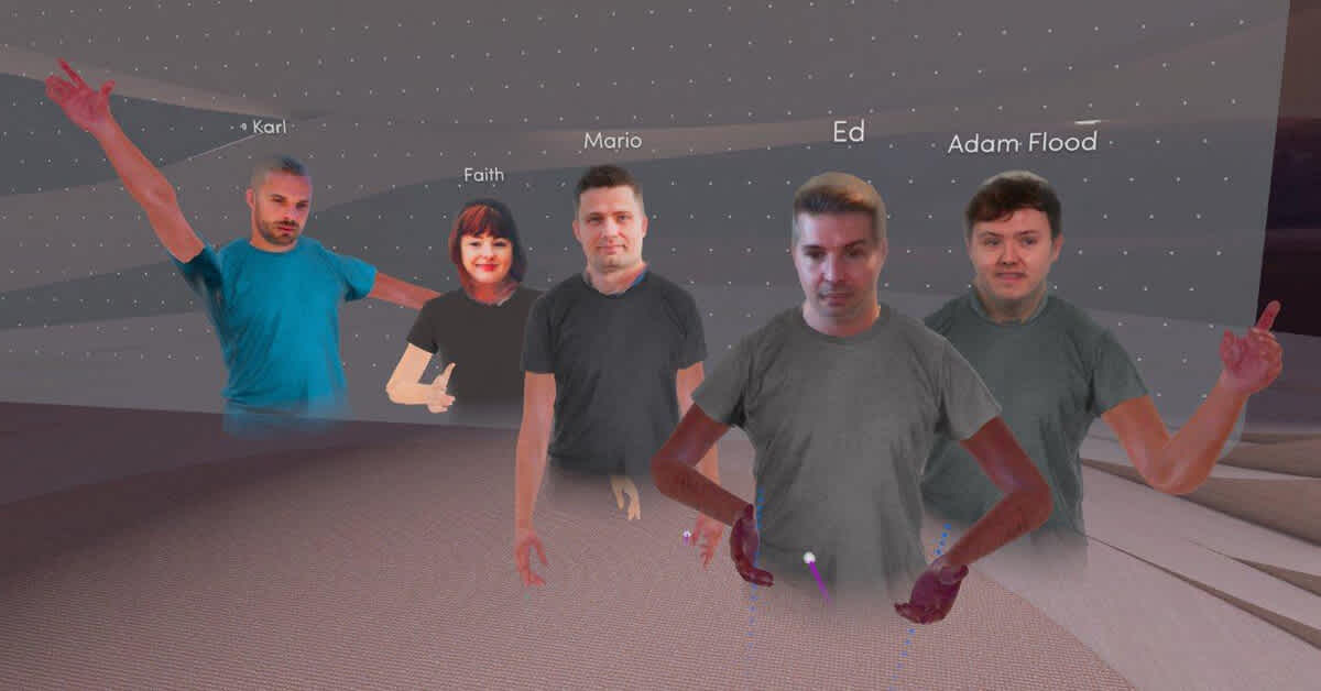 GoCardless sales team avatars in virtual reality