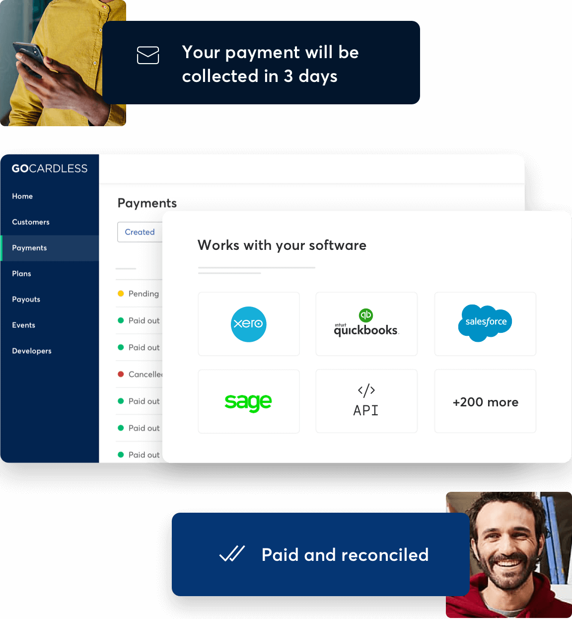Collect and reconcile invoice payments automatically