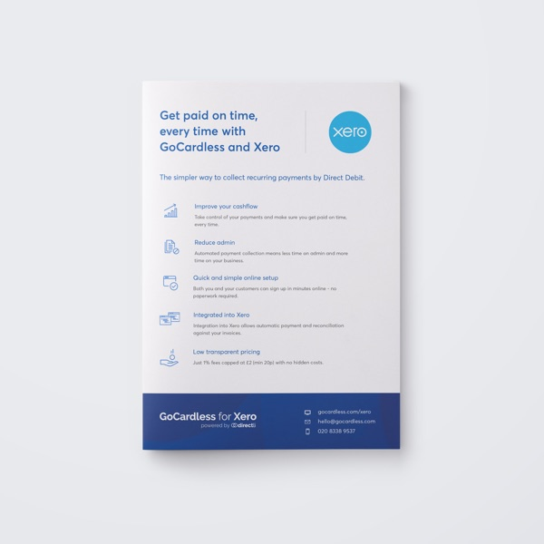 GoCardless for Xero Postcard
