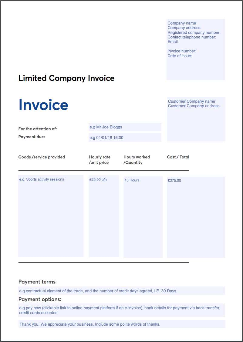Free Invoice Template Sole Trader Ltd Company Vat Invoice Gocardless