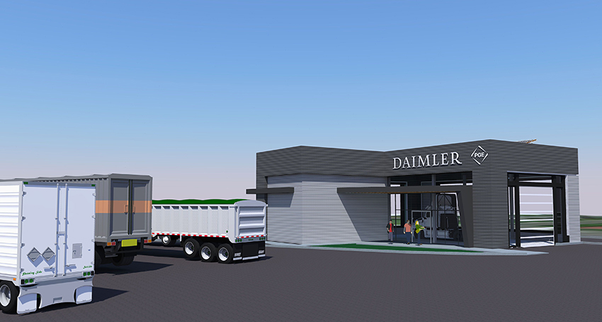 Rendering of the product and technology showcase building, plans for which are currently being finalized.