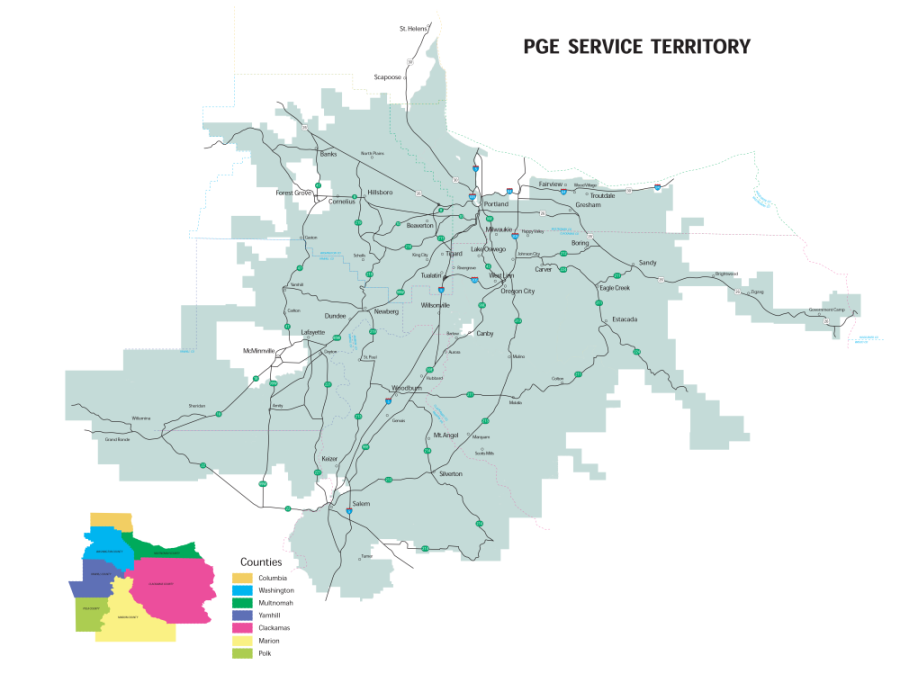 These are our service areas. Anything outside these is covered by Pacific Power, unless otherwise specified.