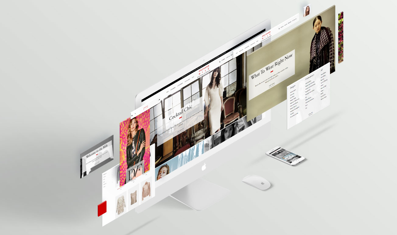 E-Commerce responsive design mock-up