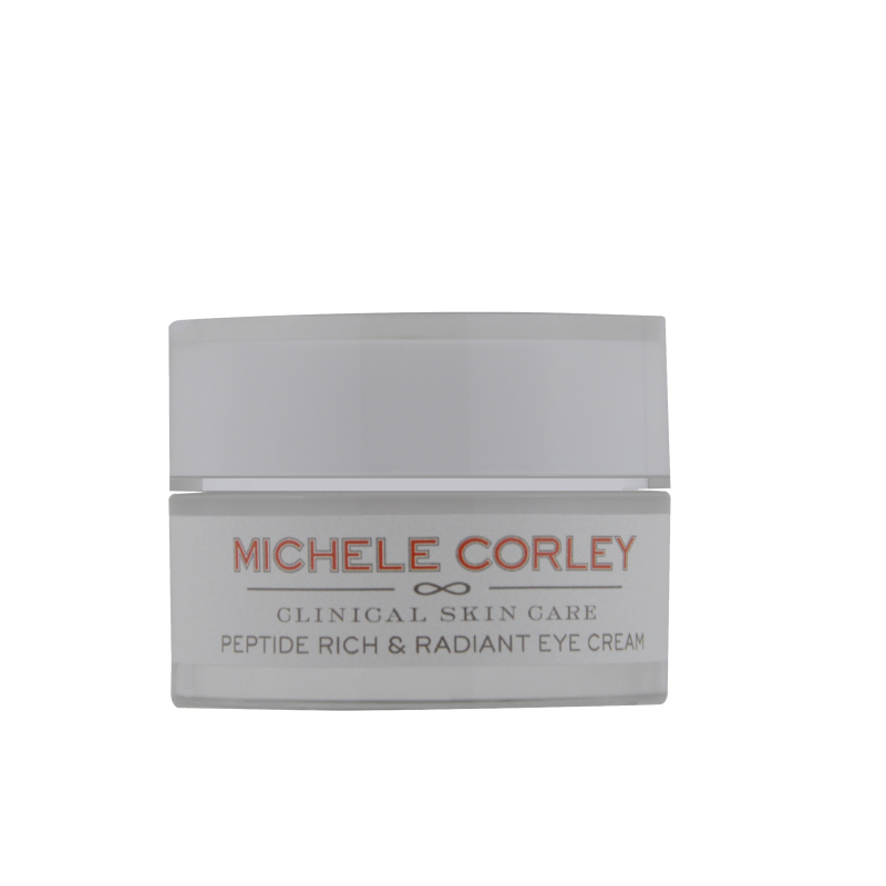 Retail jar of Peptide Rich & Radiant Eye Cream.