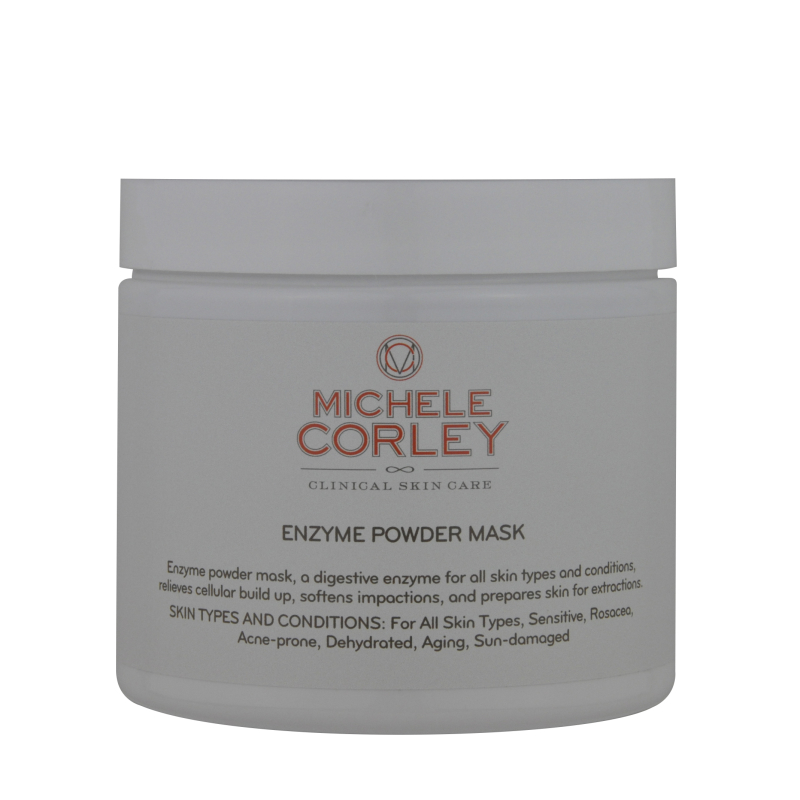 Professional jar labeled Enzyme Powder Mask