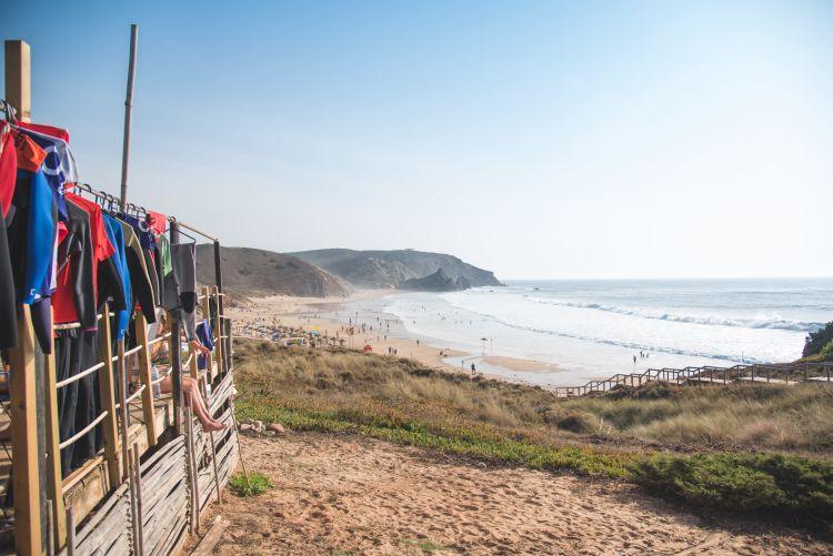Landscape beach surf