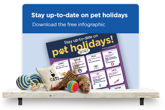 Stay up to date on pet holidays. Download the free infographic.