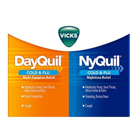 Vicks nyquil cold flu nighttime relief liquid medicine vicks