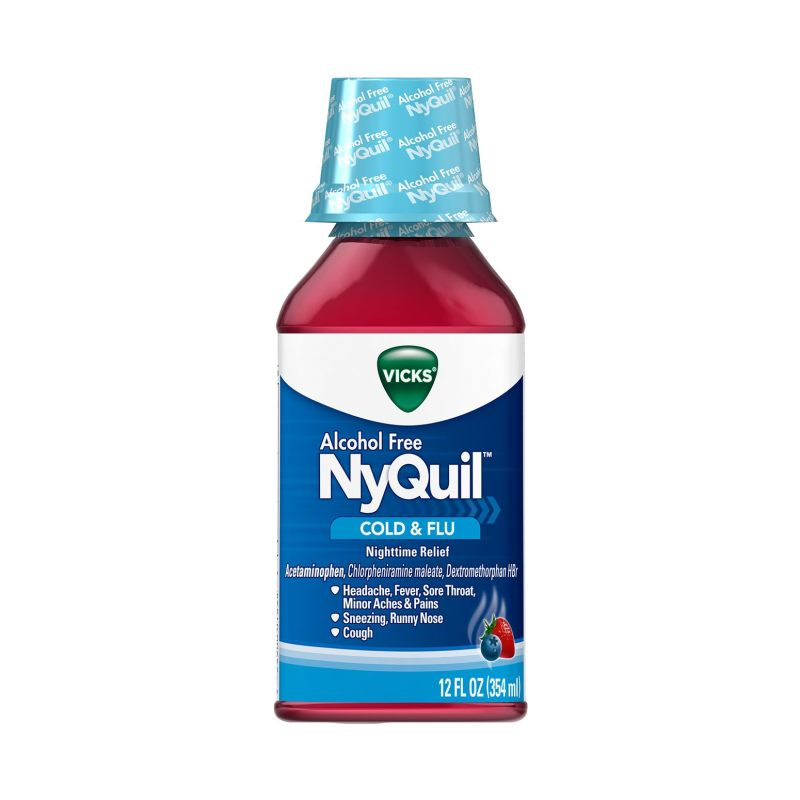 Alcohol-Free NyQuil™ Cold & Flu Relief Liquid - Vicks