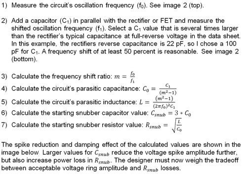 7 steps to calculate a snubber