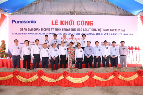 PANASONIC groundbreaking ceremony (cr)