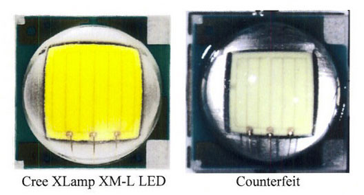 Cree LED vs counterfeit (cr)