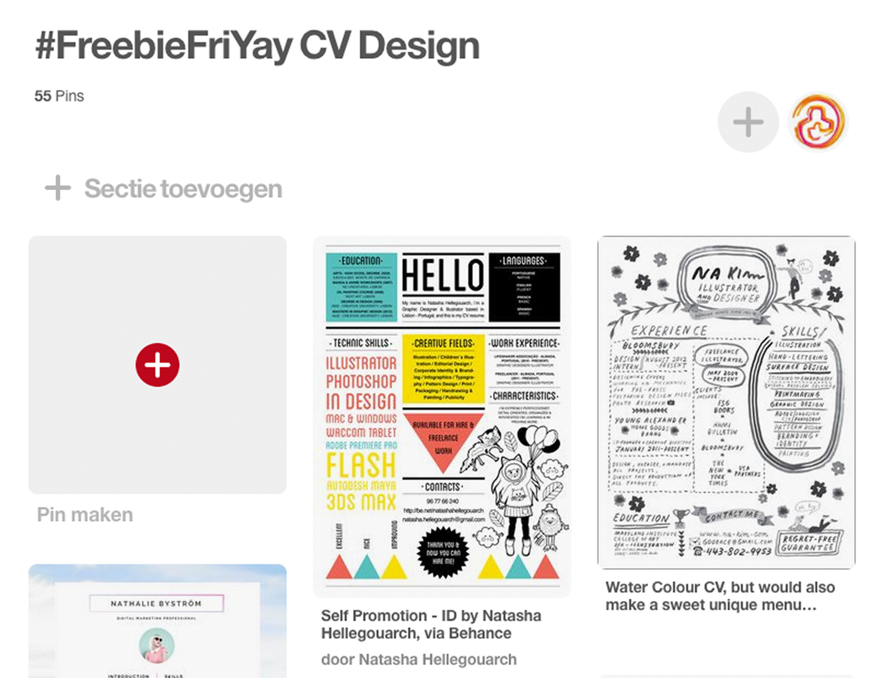 FreebieFriyay #3 - Cv's op Pinterest