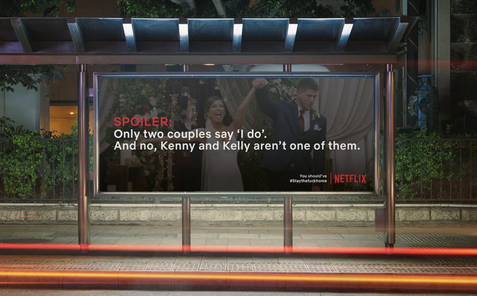 Creatieve buitenreclame van Netflix