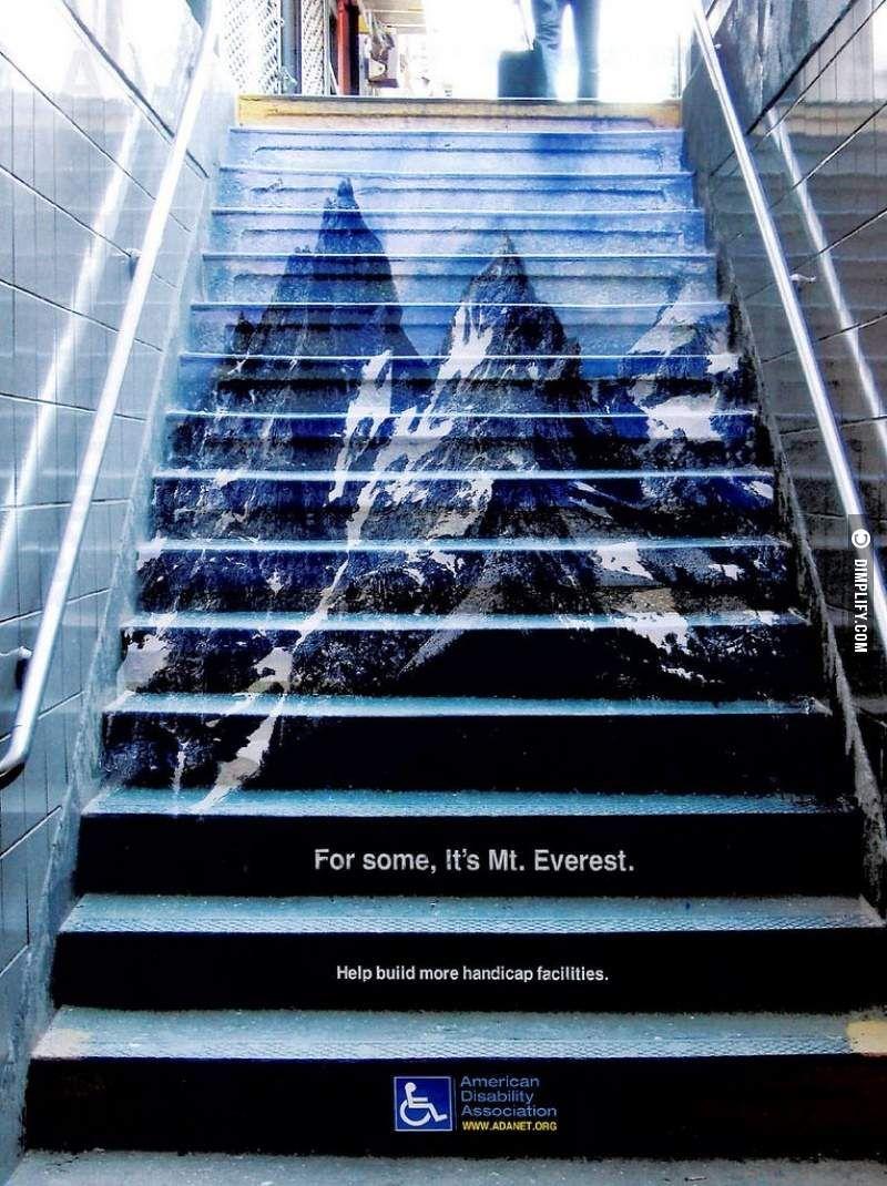 Creatieve buitenreclame van American Disability Association