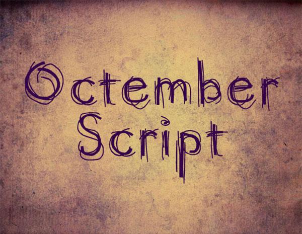 handgeschreven-font-octember-script