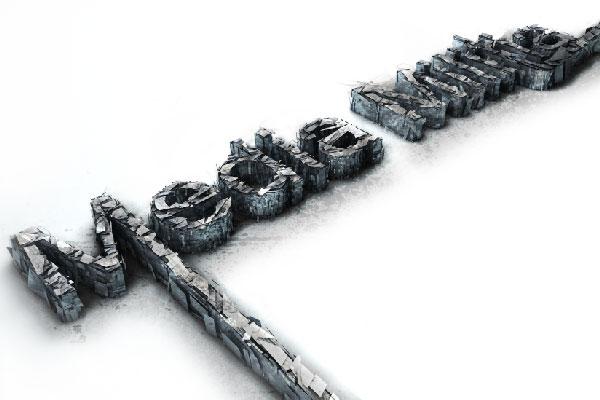 Letters verbrijzeld