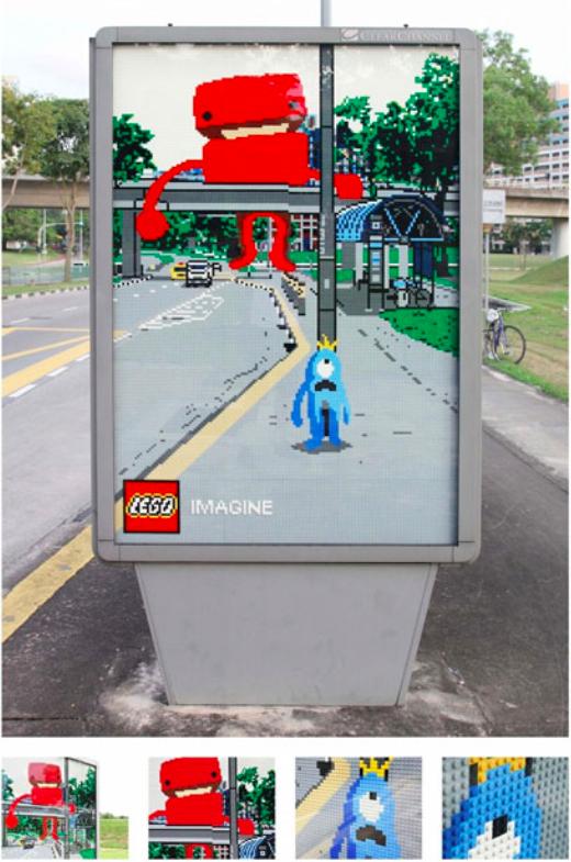 Creatieve buitenreclame van LEGO