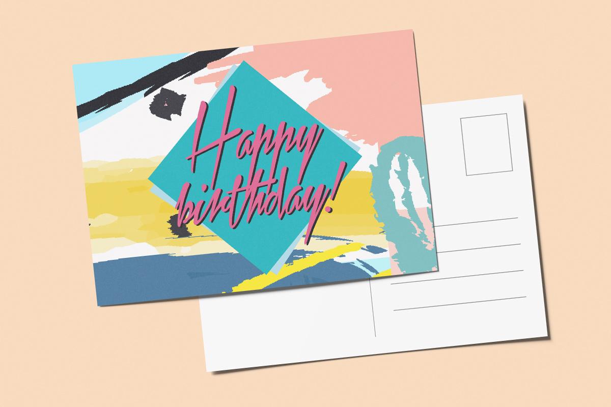 Template verjaardagskaart nineties