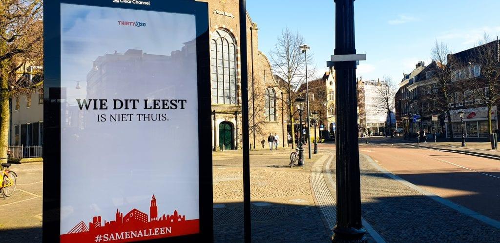 Creatieve buitenreclame van Utrecht Marketing