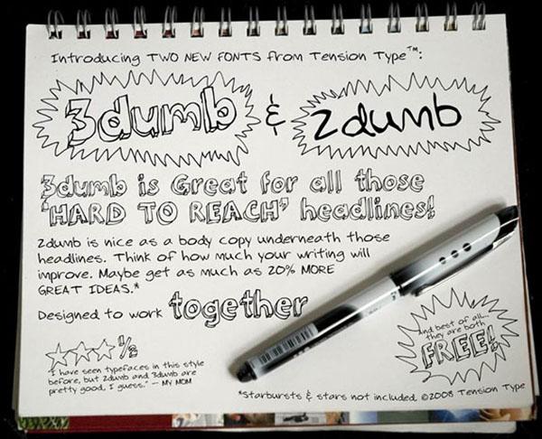 handgeschreven-font-dumb