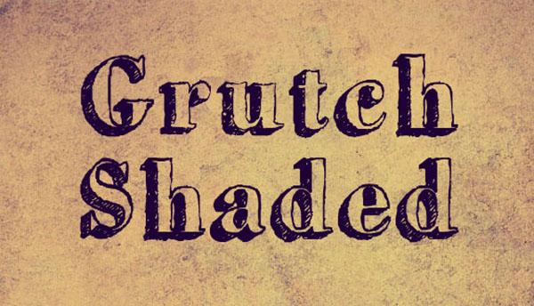 handgeschreven-font-Grutch-shaded