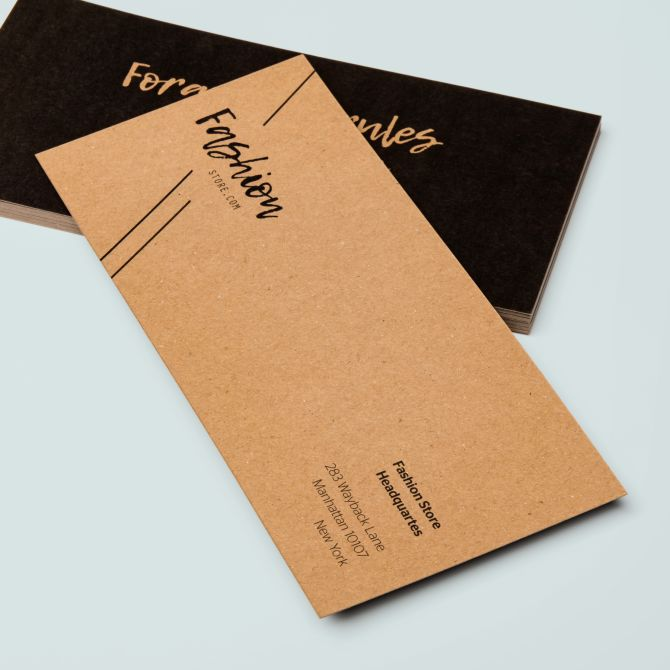 With compliments cards Kraft bedrukken