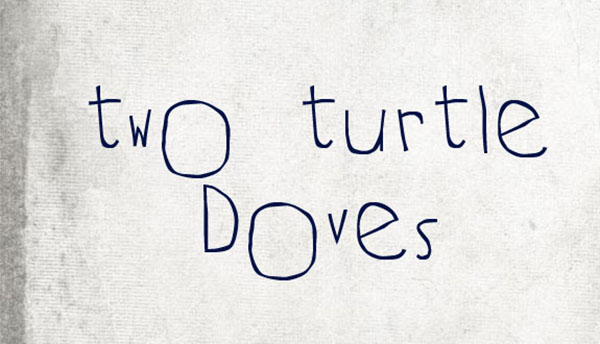 handgeschreven-font-two-turtle-doves