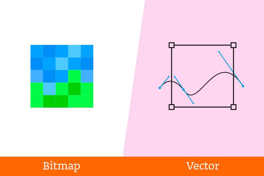 Grafische-termen-verkeerd-begrepen bitmap-vector