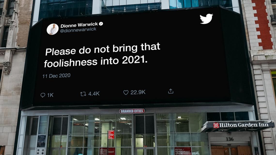 Creatieve buitenreclame van Twitter