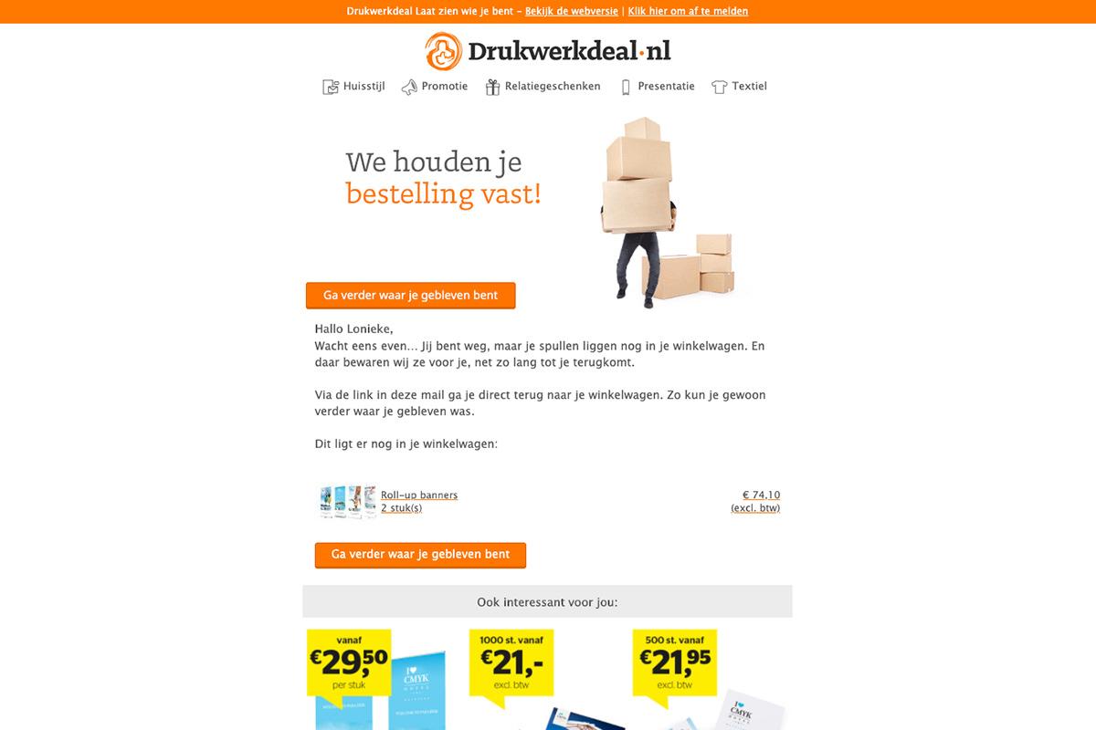 Meer klanten met je e-mail nieuwsbrief afbeelding winkelverlaters