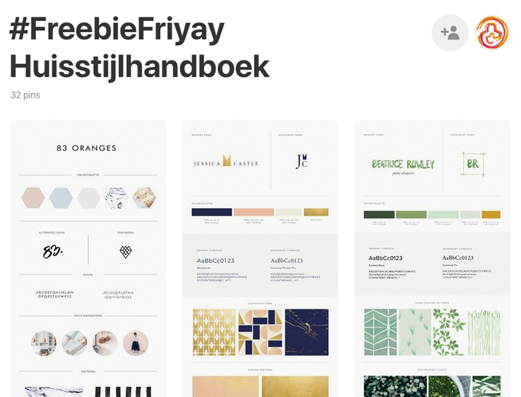 freebiefriyay-week-24 pinterest-huisstijlhandboek