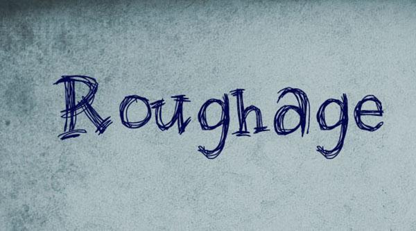 handgeschreven-font-roughage
