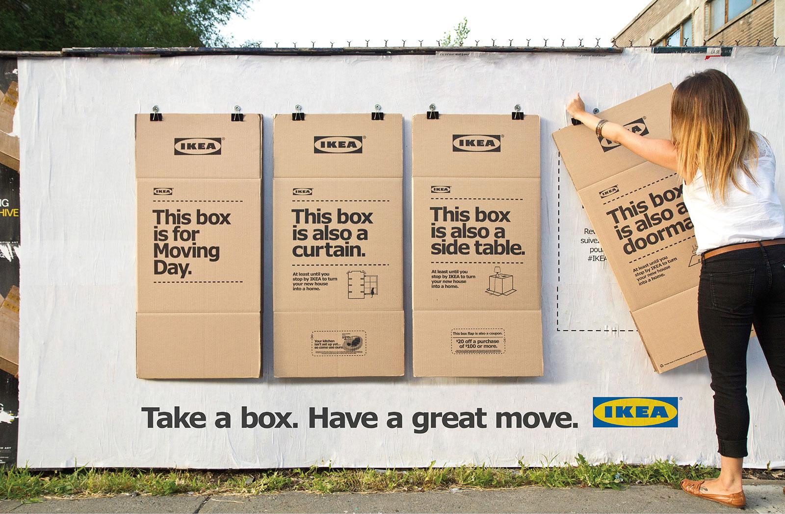 Creatieve buitenreclame van Ikea