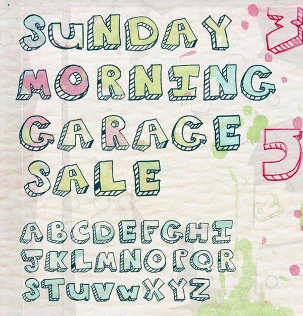 handgeschreven-font-Sunday-morning