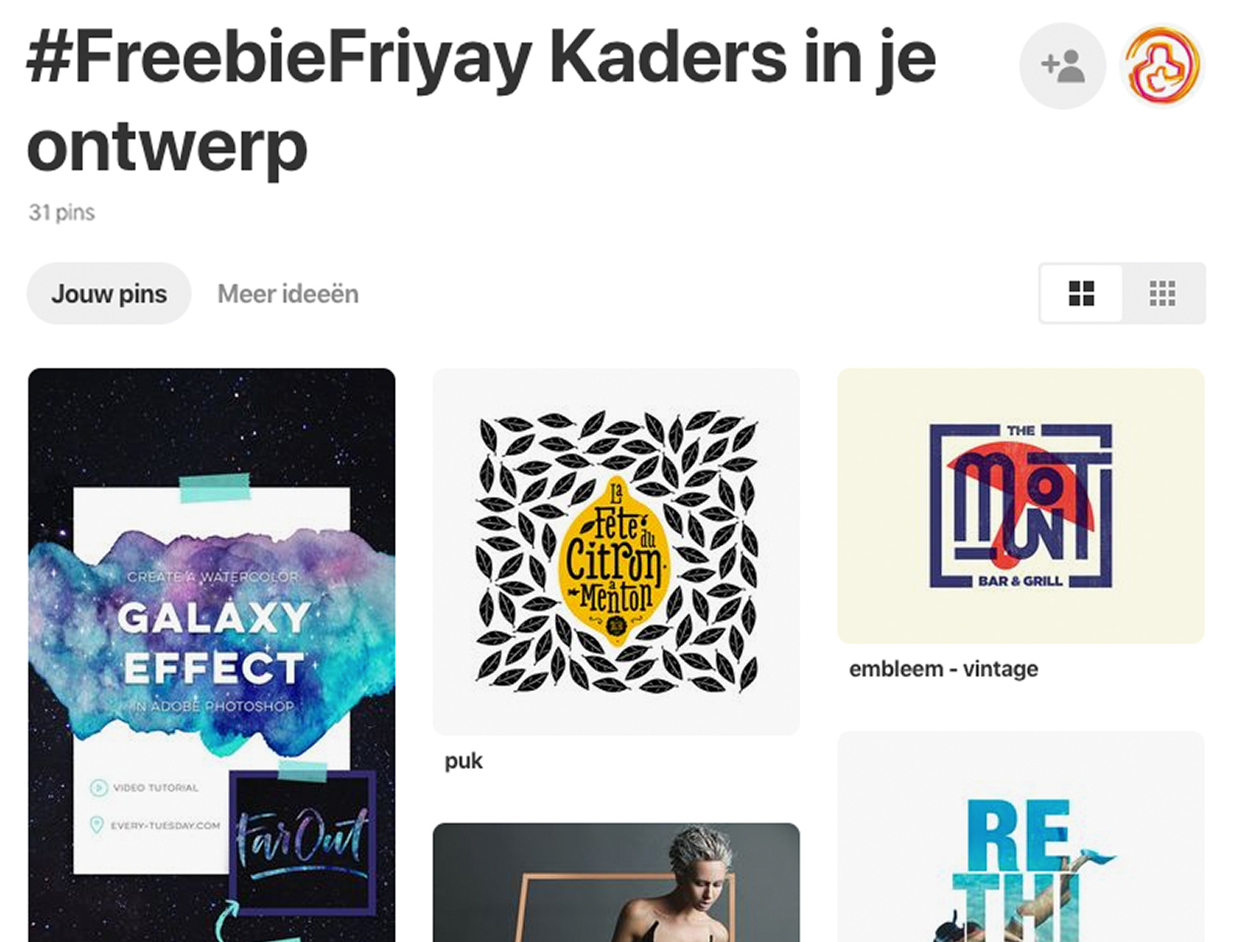 FreebieFriyay #35 - Kaders op Pinterest