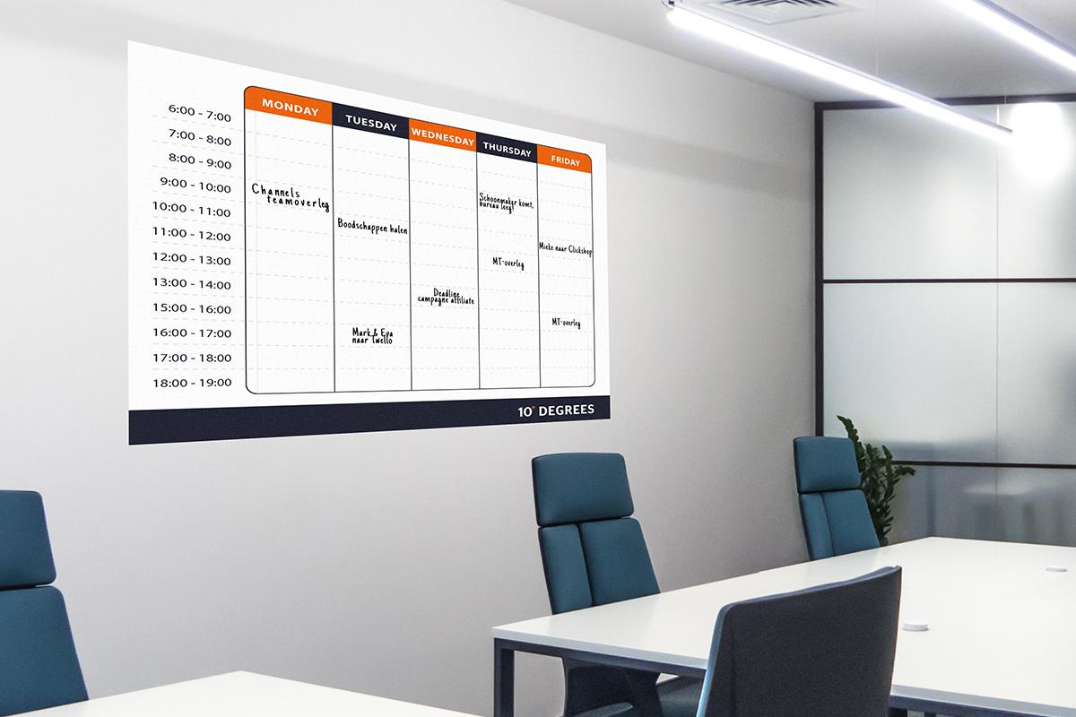 Whiteboard-planbord
