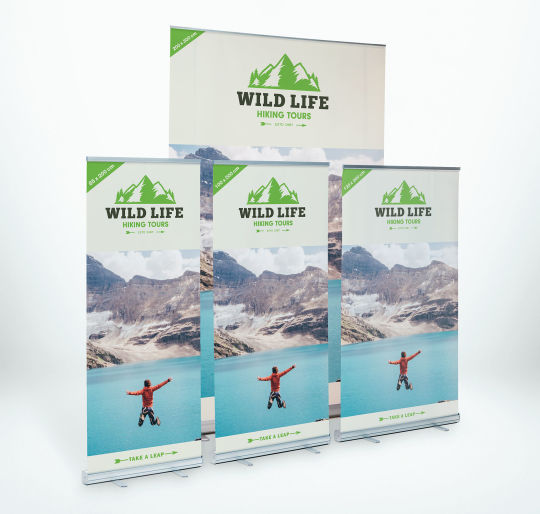 roll up banner wild life