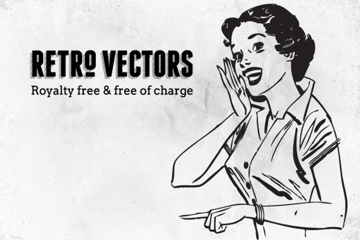 de-27-beste-sites-voor-gratis-vectorillustraties retro-vectors