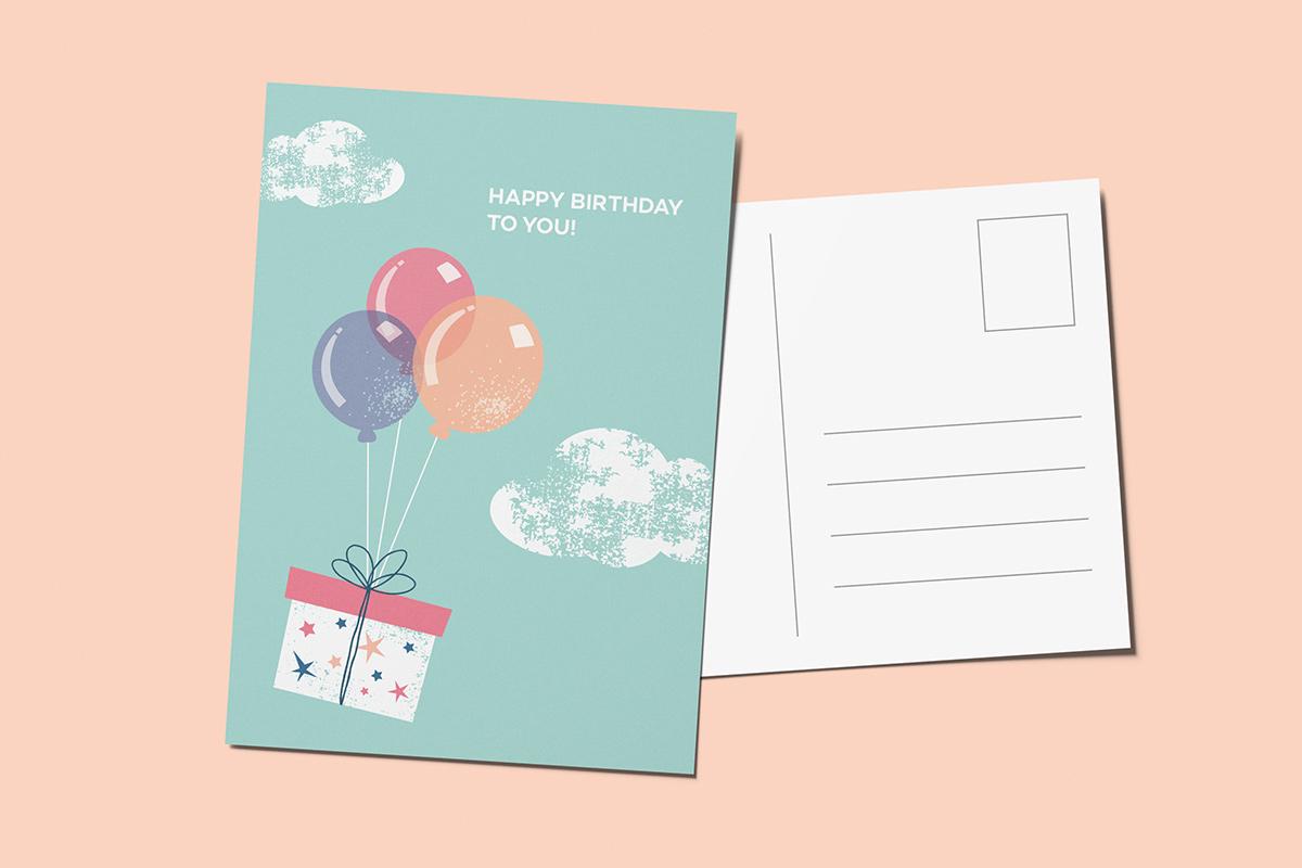 Template verjaardagskaart cadeau
