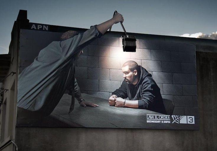 Creatieve buitenreclame van Law & Order