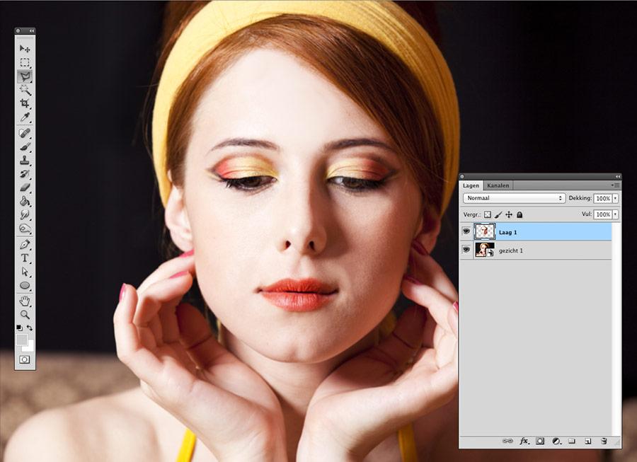 face-swap-photoshop-kopieer-nieuwe-laag