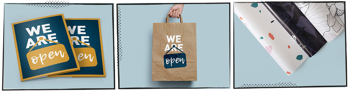 open-voor-afhale folders-tassen-inpakpapier