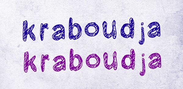 handgeschreven-font-Kraboudja