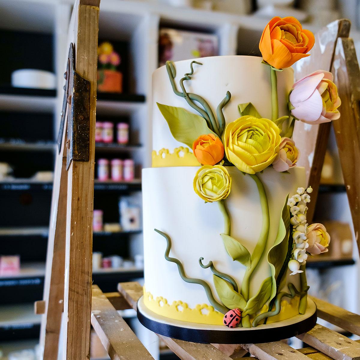 Een-mooi-versierde-taart-van-Sonja