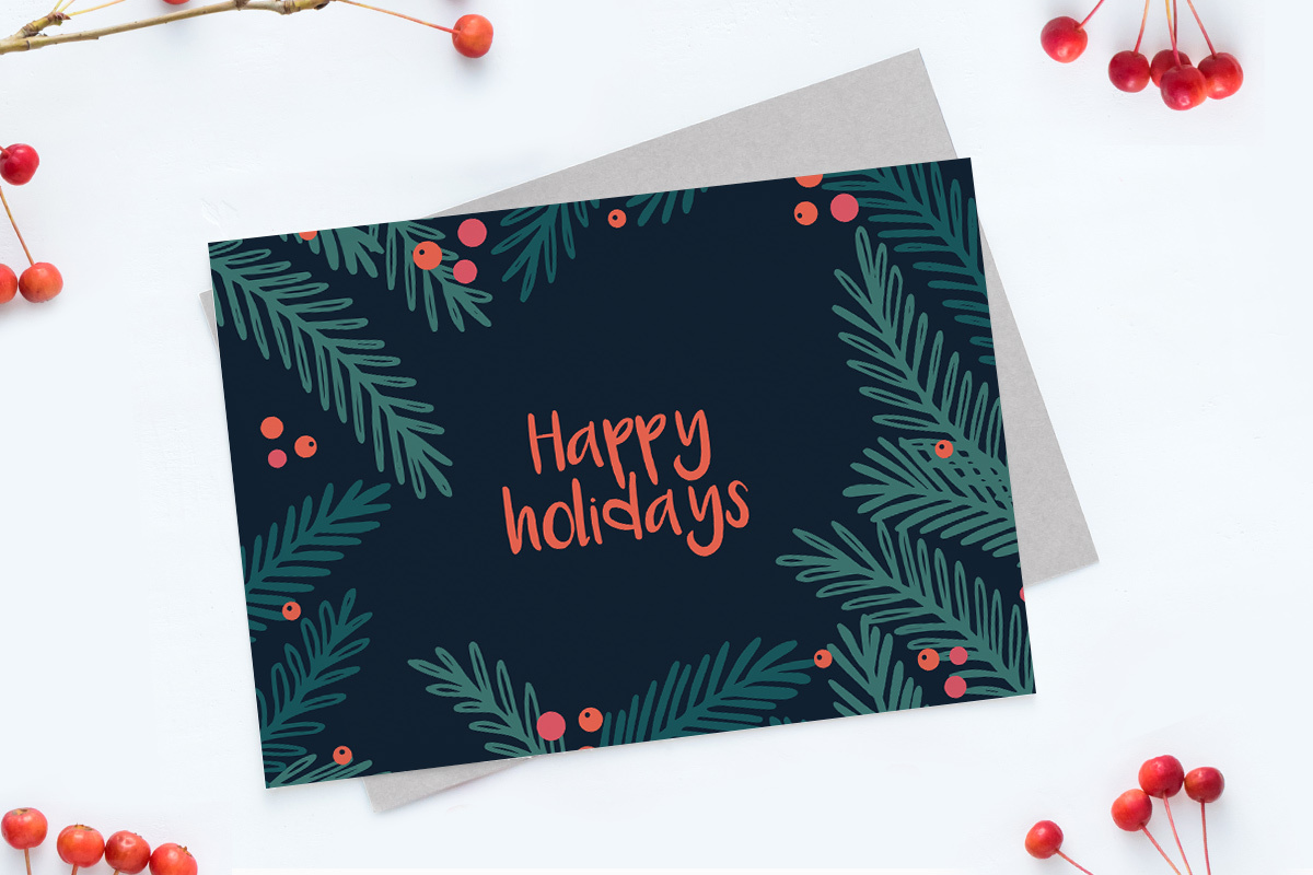 featured kerstkaart-templates branches